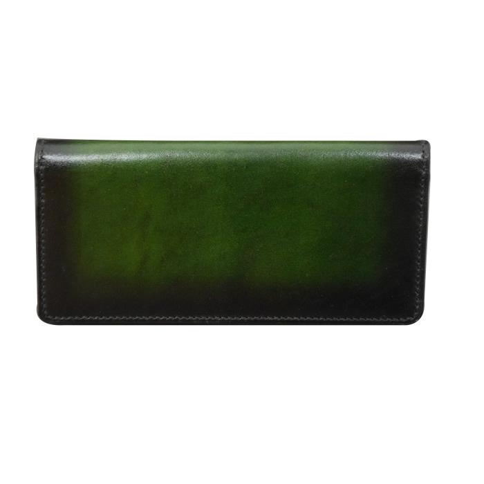 ロングウォレット スラッシュ(緑色)