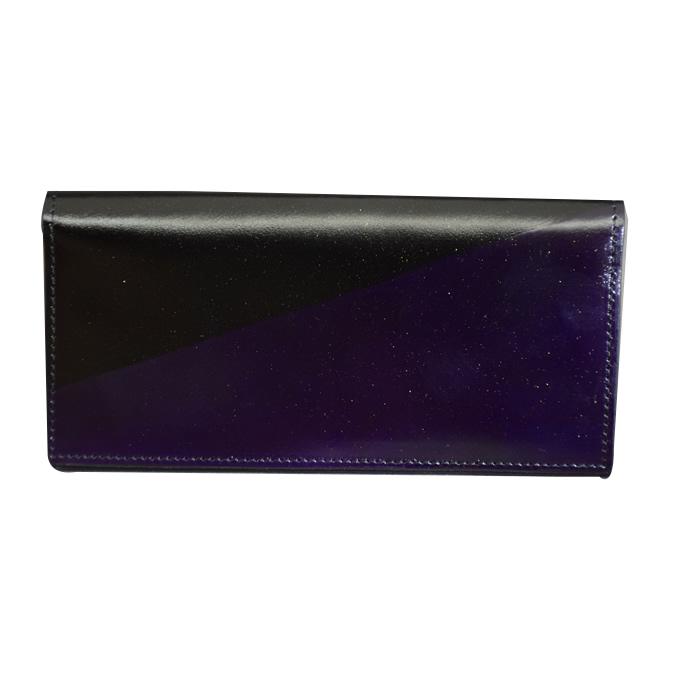 ロングウォレット スラッシュ(紫色)